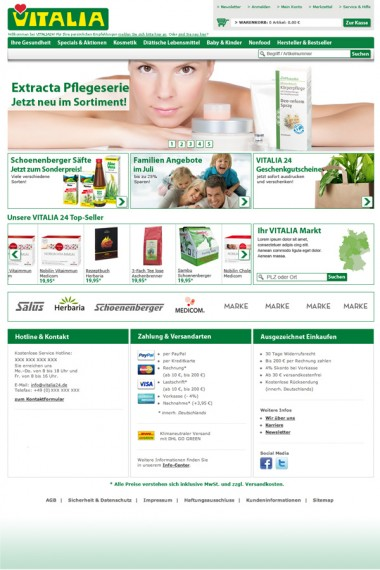 Vitalia 24 / Online Shop