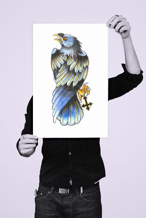 holding_poster_raven