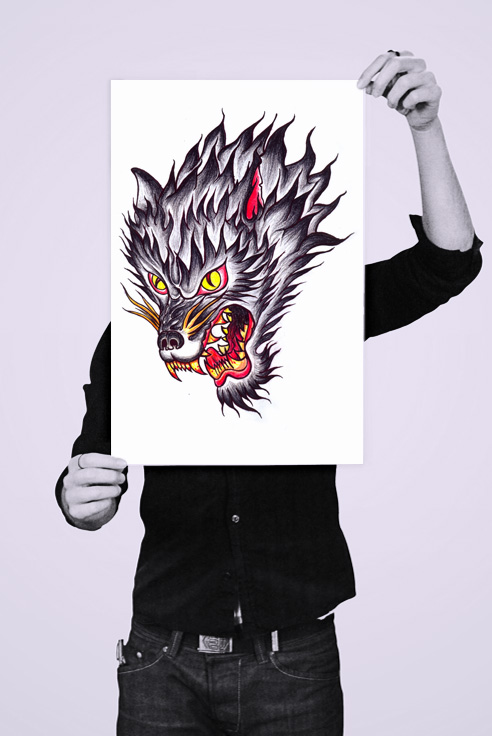 holding_poster_wolf