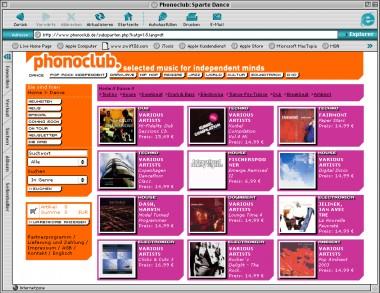 Phonoclub / Online Shop